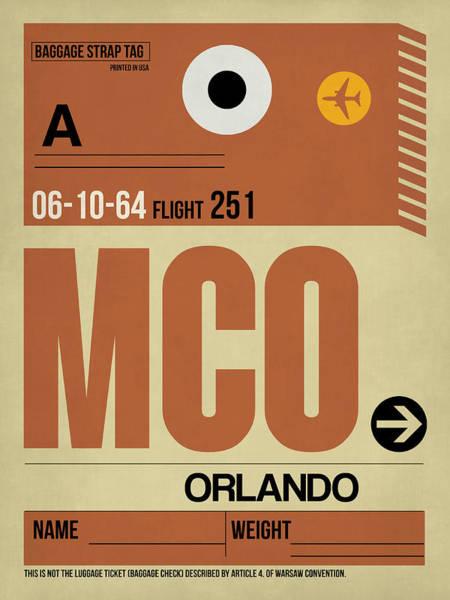 South Florida Wall Art - Digital Art - Mco Orlando Luggage Tag I by Naxart Studio