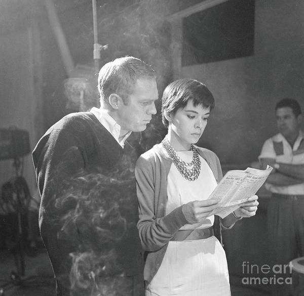 Photograph - Mcqueen & Adams On Alfred Hitchcock by Cbs Photo Archive