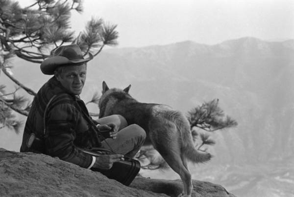 Steve Mcqueen Photograph - Mcqueen & Mike In The Mountains by John Dominis