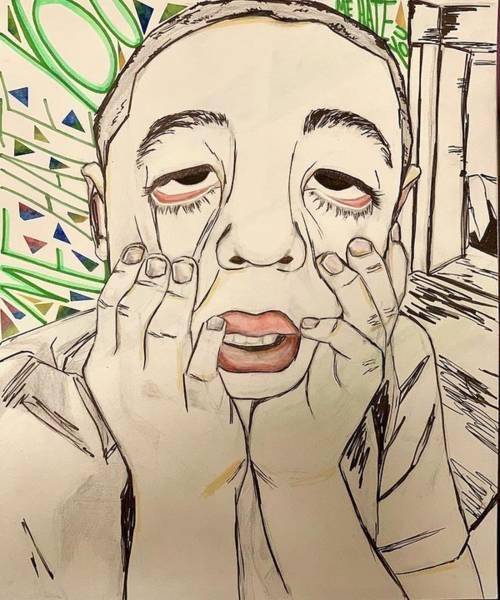 Wall Art - Drawing - Me Hate You by Luisa Gumeta