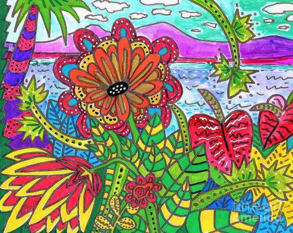 Wall Art - Painting - Me Ke Aloha Pumehana 3 by A Hillman