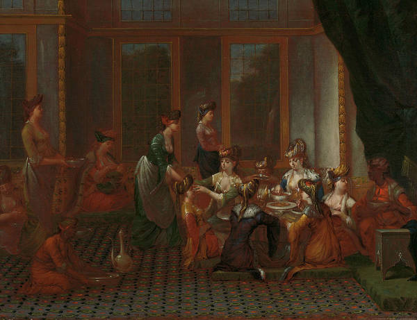 Painting - Meal From Distinguished Turkish Women by Jean Baptiste Vanmour