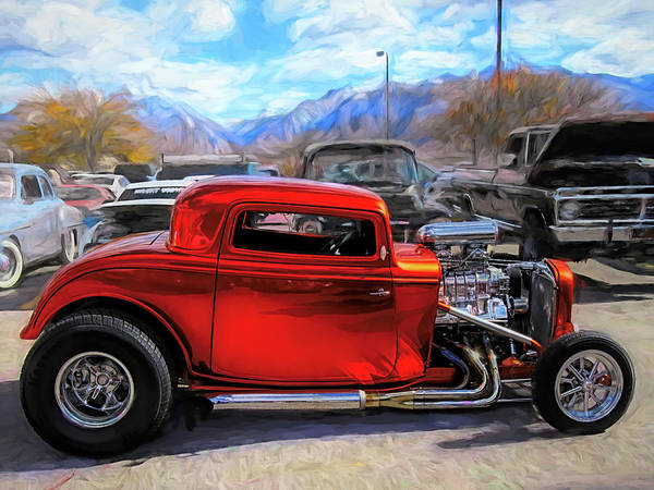Photograph - Mean Orange Hot Rod by David King