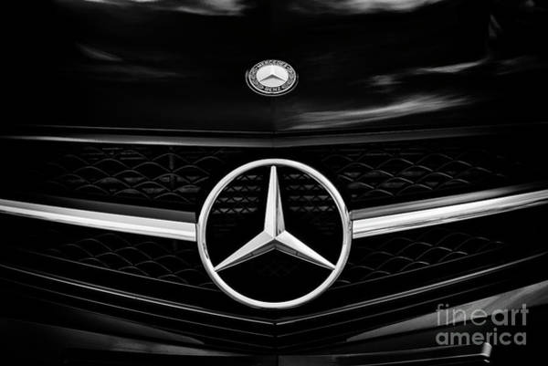 Photograph - Mecedes Benz Monochrome by Tim Gainey