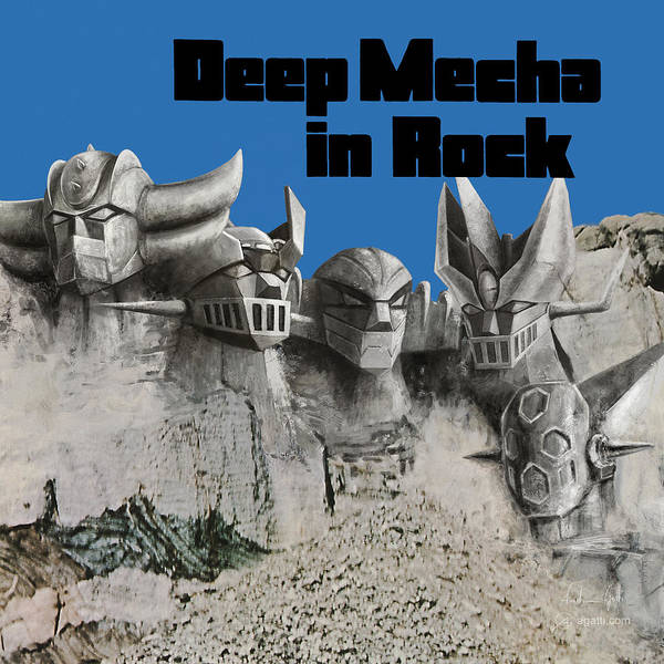 Hardrock Digital Art - Mecha In Rock by Andrea Gatti