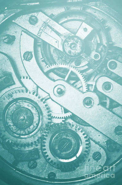 Wall Art - Photograph - Mechanism Of Pocket Watch Gear And Cog by Jelena Jovanovic