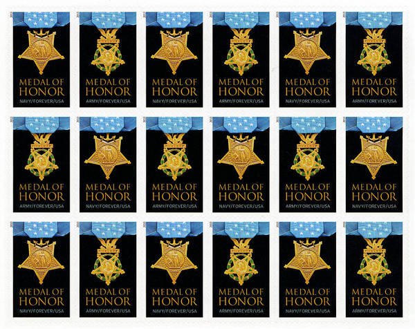 Medal Of Honor Photograph - Medal Of Honor - Stamps by Paul W Faust - Impressions of Light