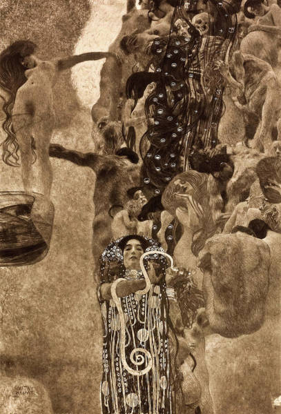 Wall Art - Painting - Medicine, 1900-1907 by Gustav Klimt