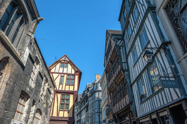 Wall Art - Photograph - Medieval Architecture, Rouen, Normandy by Lisa S. Engelbrecht