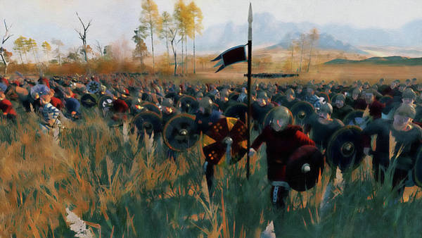 Painting - Medieval Army In Battle - 49 by Andrea Mazzocchetti