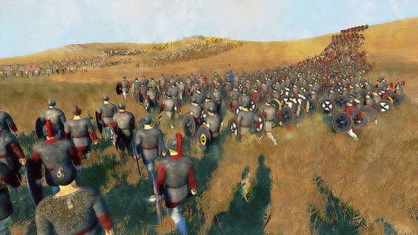 Painting - Medieval Army In Battle - 52 by Andrea Mazzocchetti