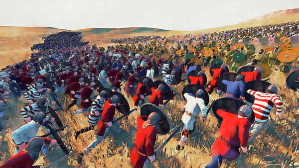 Painting - Medieval Army In Battle - 54 by Andrea Mazzocchetti