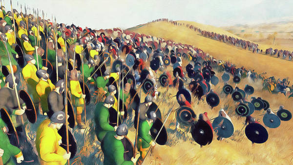 Painting - Medieval Army In Battle - 56 by Andrea Mazzocchetti