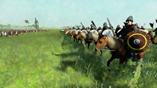 Painting - Medieval Army In Battle - 58 by Andrea Mazzocchetti