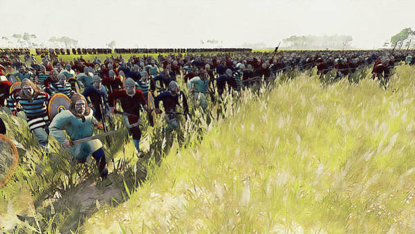 Painting - Medieval Army In Battle - 60 by Andrea Mazzocchetti