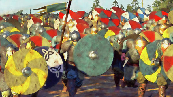 Painting - Medieval Army In Battle - 65 by Andrea Mazzocchetti