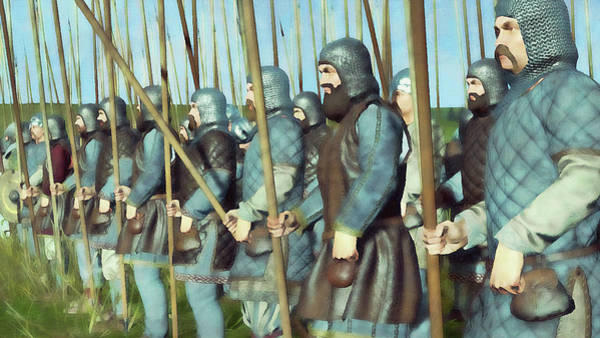 Painting - Medieval Army In Battle - 67 by Andrea Mazzocchetti