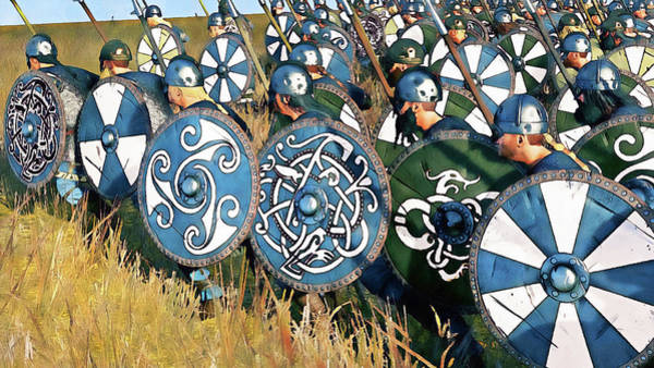 Painting - Medieval Army In Battle - 70 by Andrea Mazzocchetti