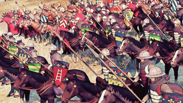 Painting - Medieval Army In Battle - 72 by Andrea Mazzocchetti