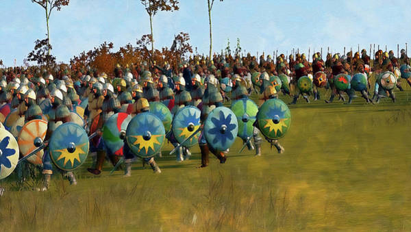 Painting - Medieval Army In Battle - 74 by Andrea Mazzocchetti