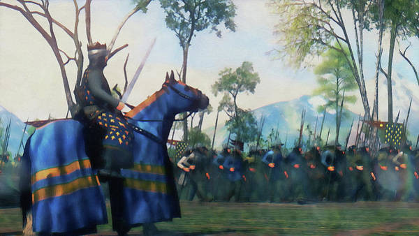 Painting - Medieval Army In Battle - 76 by Andrea Mazzocchetti