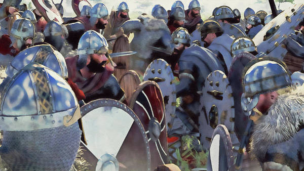 Painting - Medieval Army In Battle - 77 by Andrea Mazzocchetti