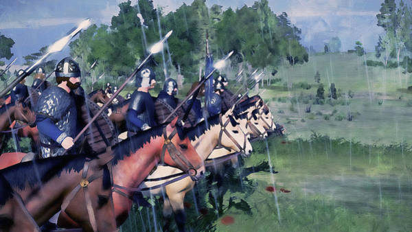 Painting - Medieval Army In Battle - 78 by Andrea Mazzocchetti