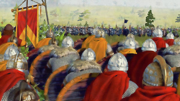 Painting - Medieval Army In Battle - 79 by Andrea Mazzocchetti