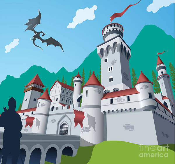 Wall Art - Digital Art - Medieval Castle by Nikola Knezevic