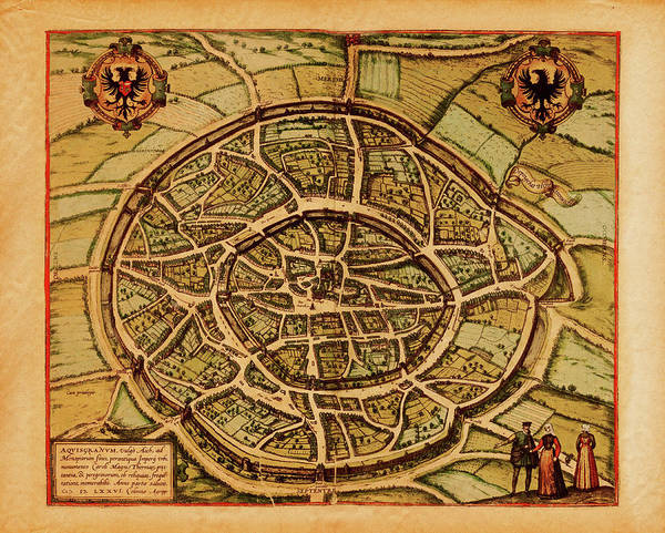 18th Century Digital Art - Medieval Maps And Illustrations I View by Nicoolay