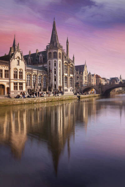 Townscape Photograph - Medieval Old Town Ghent Belgium by Carol Japp