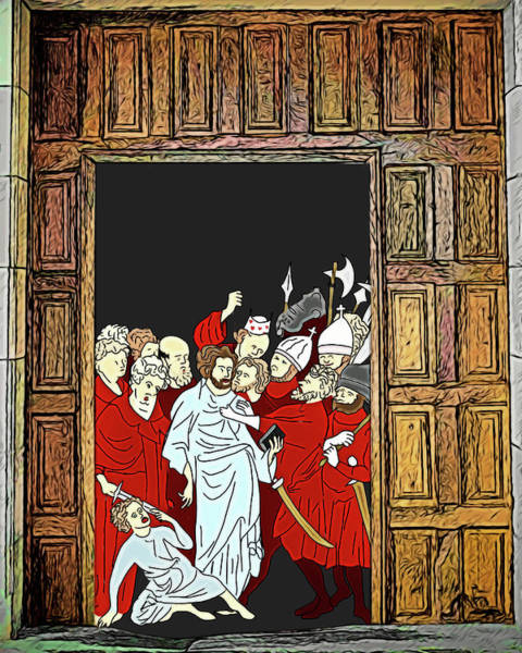 Digital Art - Medieval Surprise Party by John Haldane