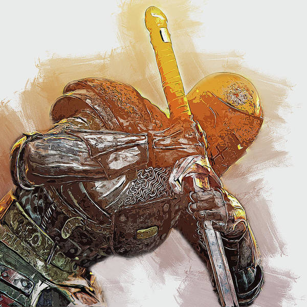 Painting - Medieval Warrior - 22 by Andrea Mazzocchetti