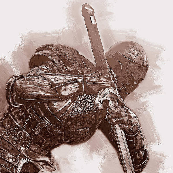 Painting - Medieval Warrior - 23 by Andrea Mazzocchetti