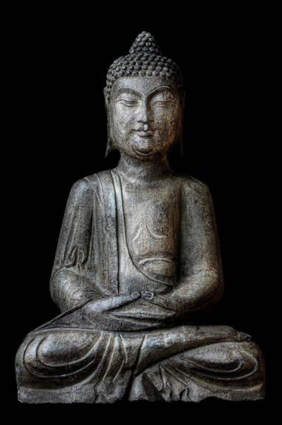 Wall Art - Photograph - Meditating Buddha by T.light