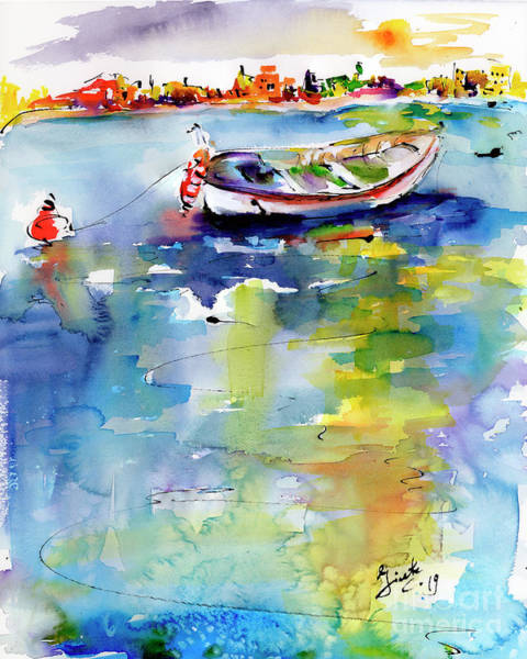 Painting - Mediterranean Impressions Boat by Ginette Callaway