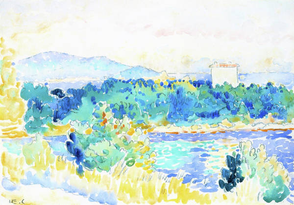 Wall Art - Painting - Mediterranean Landscape With A White House - Digital Remastered Edition by Henri Edmond Cross