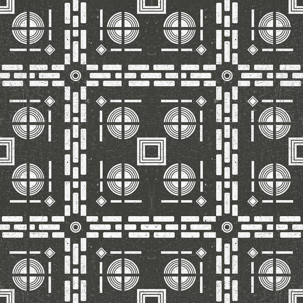 Faded Mixed Media - Mediterranean Pattern 10 - Tile Pattern Designs - Geometric - Grey - Ceramic Tile - Surface Pattern by Studio Grafiikka