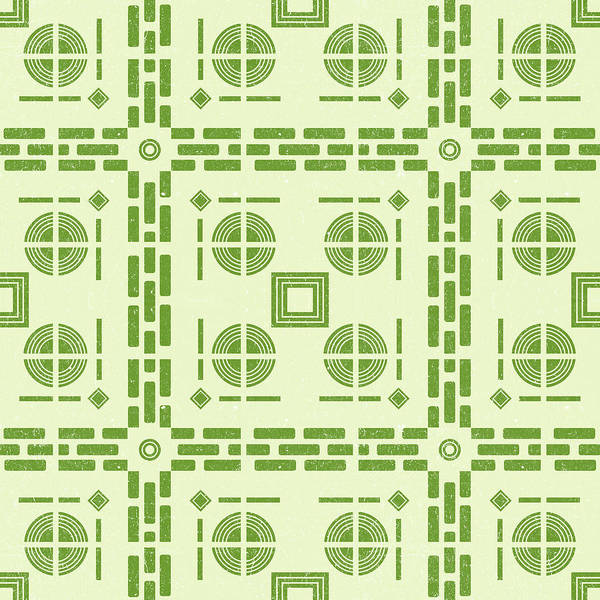 Olives Mixed Media - Mediterranean Pattern 6 - Tile Pattern Designs - Geometric - Green - Ceramic Tile - Surface Pattern by Studio Grafiikka