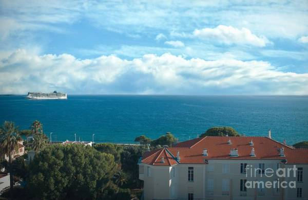 Photograph - Mediterranean View In Cannes by Luther Fine Art