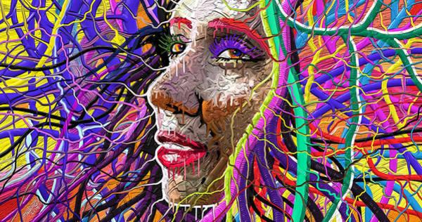 Wall Art - Painting - Medusa Maze by Anthony Mwangi
