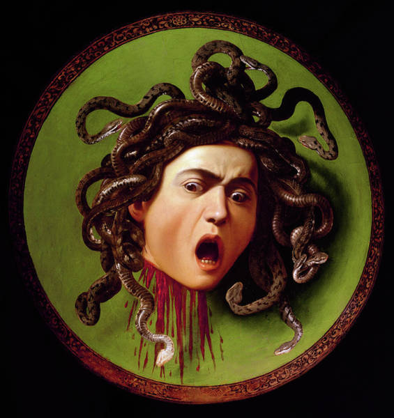 Wall Art - Painting - Medusa, 1597 by Caravaggio
