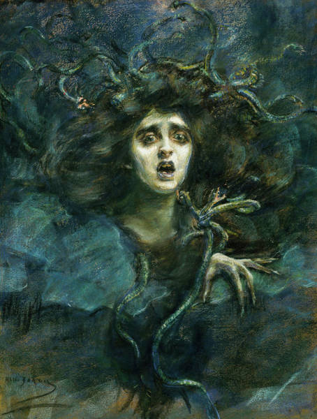 Wall Art - Painting - Medusa, 1892 by Alice Pike Barney