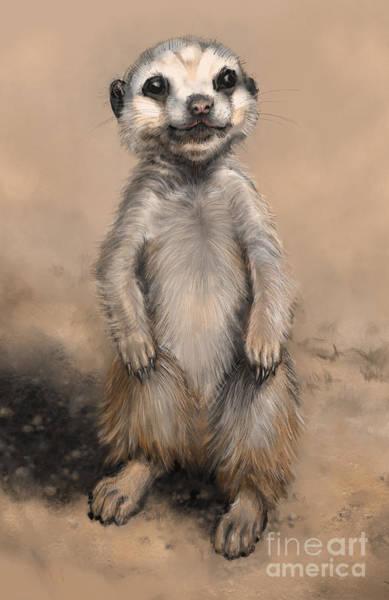Digital Art - Meercat by Lora Serra