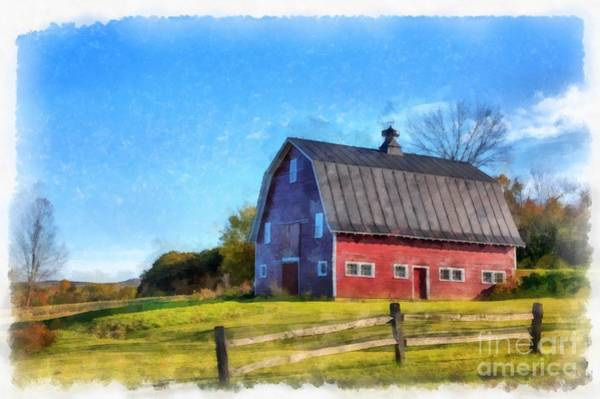 Wall Art - Digital Art - Meet Me By The Old Red Barn by Edward Fielding