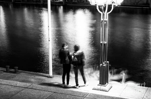 Photograph - Meeting In Hamburg At Night by John Rizzuto
