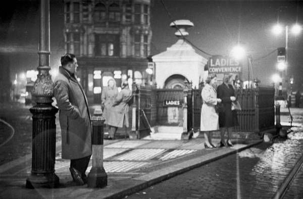 Toilet Photograph - Meeting Place by Bert Hardy