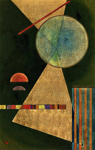 Visual Illusion Wall Art - Painting - Meeting-point, 1928 by Wassily Kandinsky
