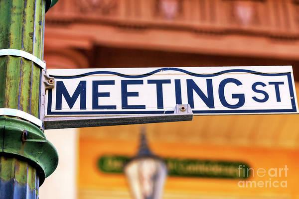 Photograph - Meeting Street Charleston by John Rizzuto