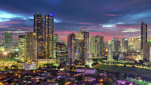 Jakarta Photograph - Mega Kuningan Cbd Jakarta Sunset by Abdul Azis